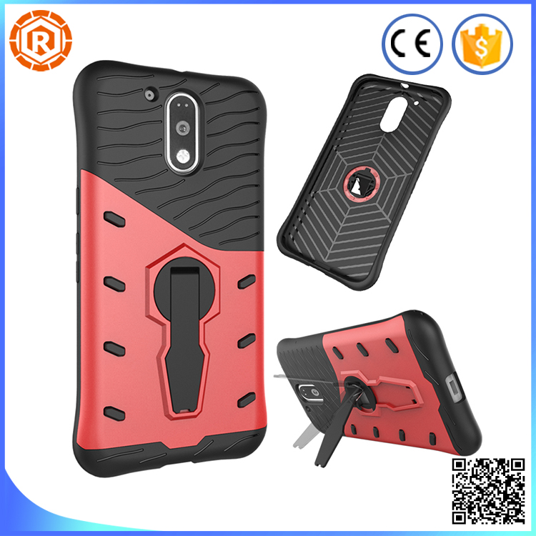 Shockproof Phone case for moto g4 plus cover Plastic Material durable tpu and pc