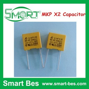 Smart bes 104K/275VAC 0.1UF P=10 Anti-interference Capacitor MKP X2 Capacitor, Capacitor 0.1uf x2 275v