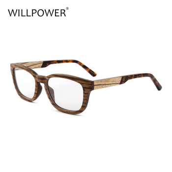 Zebra Wood Frame Tortoise Acetate Tips Cheap Eyeglasses Wooden ...