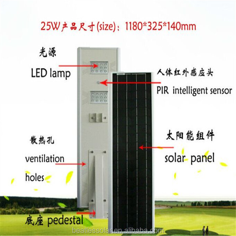 Aluminum Alloy Integrated Solar Garden Lamp All In One