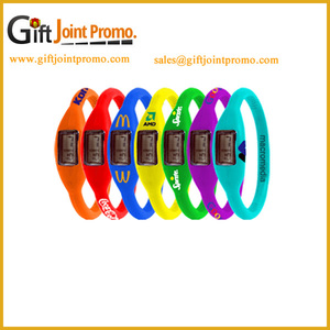 Promotional China Cheap Rubber Sport Ion Bracelet Watches