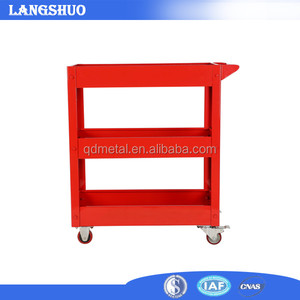3 Trays Red Tool Chest Small Hand Tool Trolley For Workshop