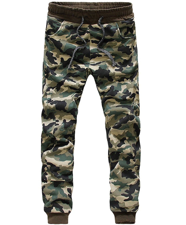 Mens Fashion Camouflage Jogging Harem Sweatpants Camo Cargo Pants