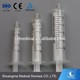 Plastic 1 ml oral syringe with ISO