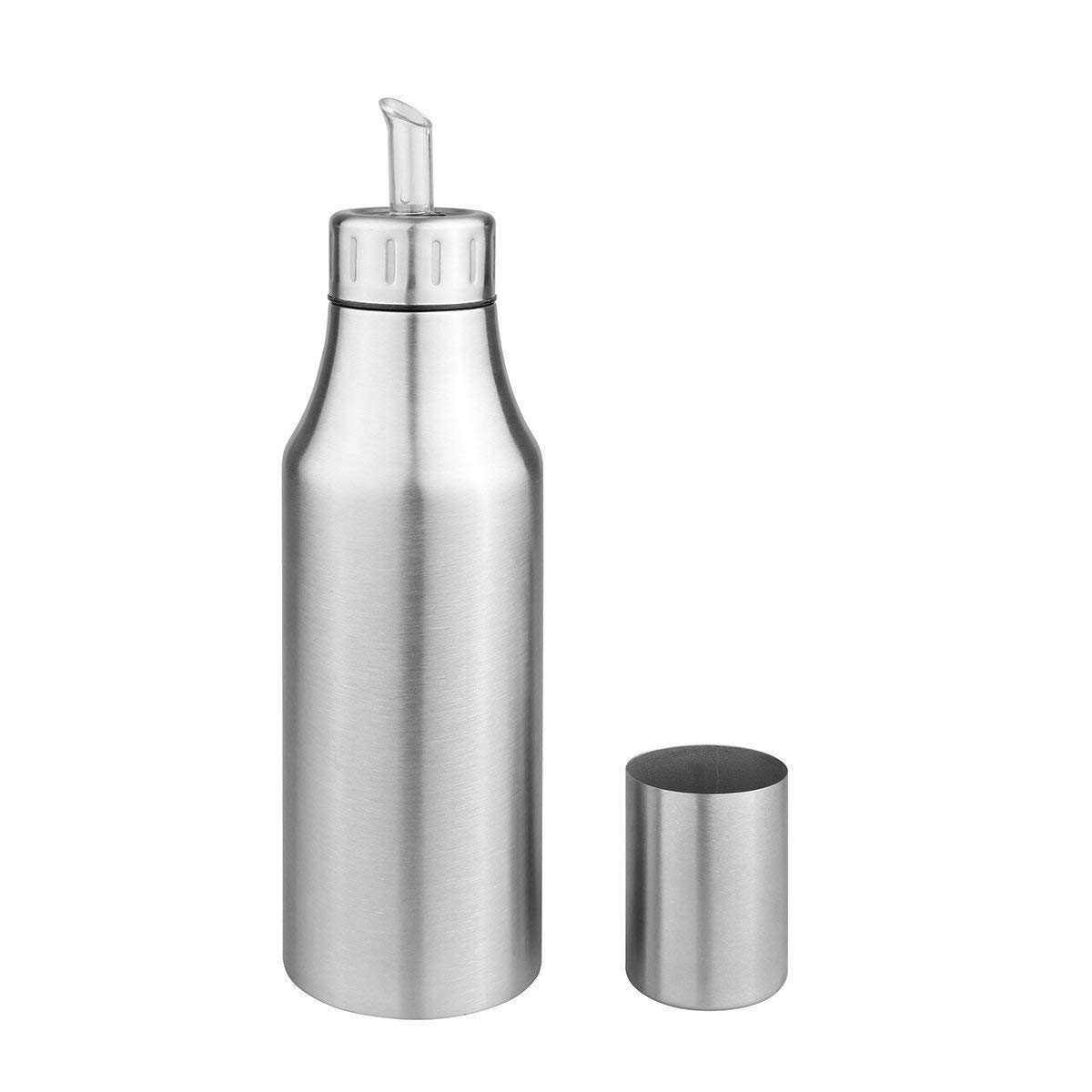 YANSE Oil & Vinegar Dispenser - Stainless Steel Olive Oil Dispenser, Non drip Pouring Spout,Leak-Proof Oil Bottle (750ml)