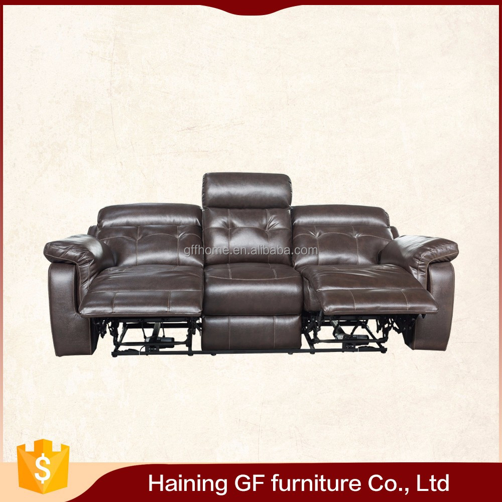 distinct hand feel dense foam seating double power recliner