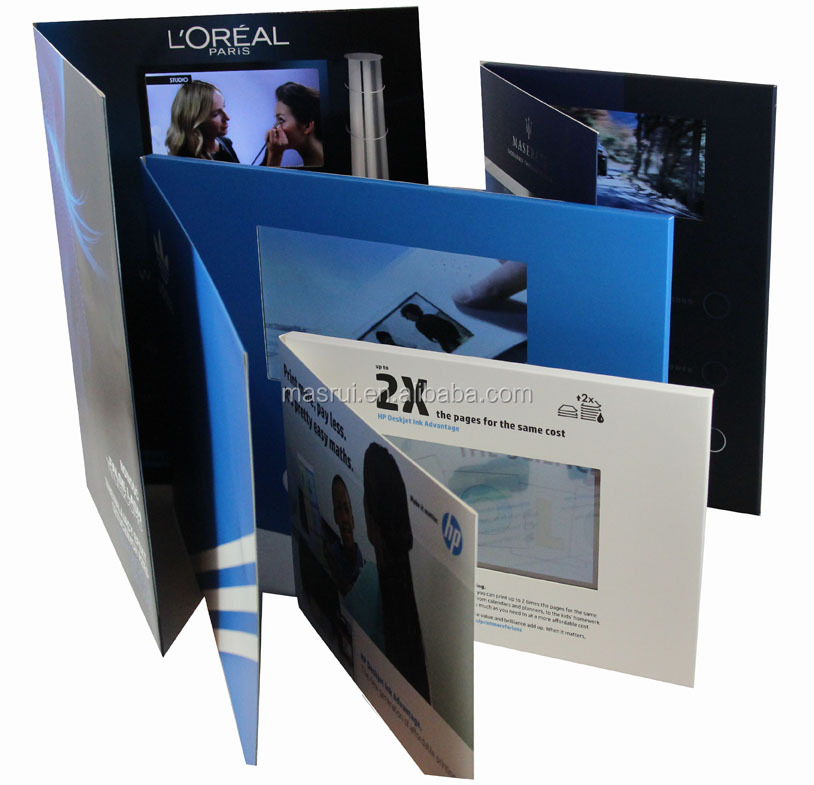 Promo Video Card,Various Sizes Video Brochure Lcd Display - Buy