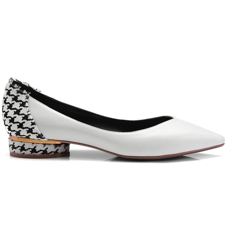2018 pointed toe flat women shoes Asumer genuine leather gUnXdgwq