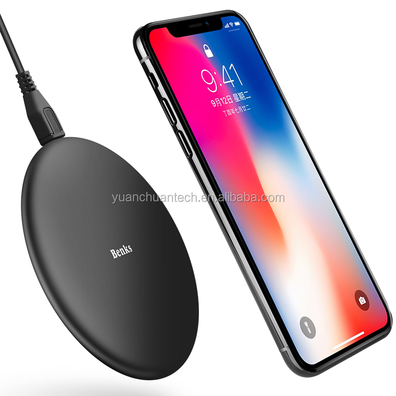 Universal Benks Hearthstone Series Wireless Charger 9V/1.1A Wireless Charger For iPhone X For Samsung Note 8