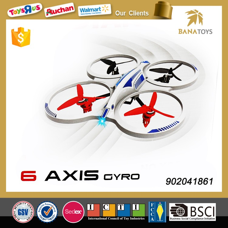 Free Shipping 4Ch 6-axis gyro rc quadcopter drone with light