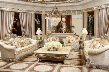 Elegant French Country Style Solid Wood Living Room Upholstery Sofa  Set/coffee Table Set(moq=1 Set) - Buy French Country Living Room  Sofa,Luxury ...