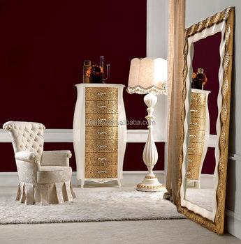 Luxury Golden Bedroom Standing Dressing Mirror