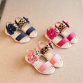 kids shoes girls 2016 New summer shoes Leopard sapatos menina Flower Princess shoes children shoes Pink