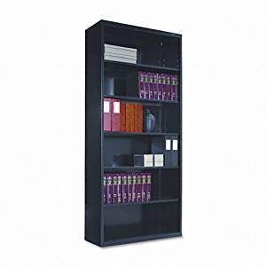 Tennsco B78BK 34-1/2 by 13-1/2 by 78-Inch Metal Bookcase with 6 Shelves, Black