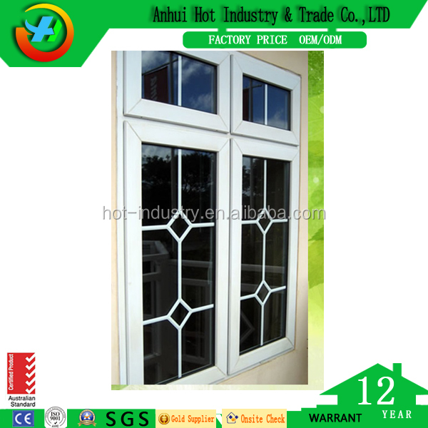 Acrylic Resin Window Sill Desing China Style Grill Sliding Window Adjustable House Use Window Vents