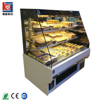 Open air cooling customer service sandwich display cooler