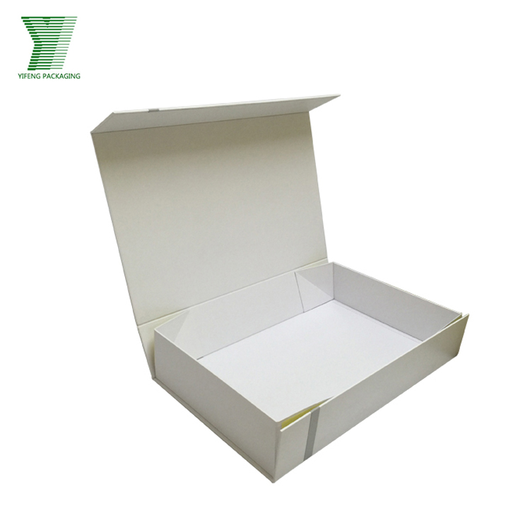Handmade Magnetic Closure Paper Gift Packaging Collapsible Box Flat Folding Box