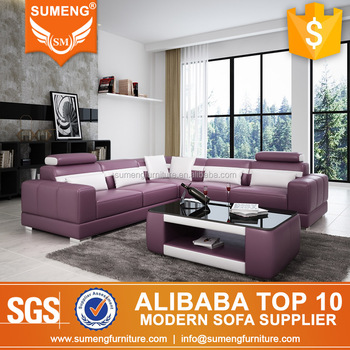 Dubai Purple Color Top China Leather Sofa Furniture Buy Purple