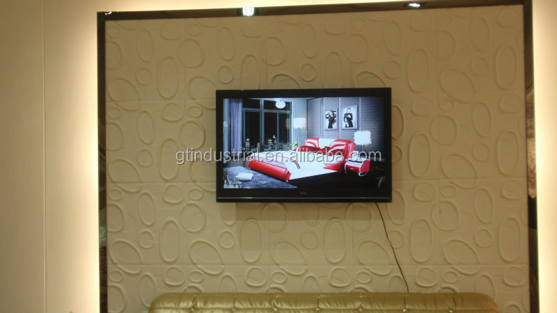 3d effect carved wall panels excellent appearance wood plastic composite wall panel for TV background