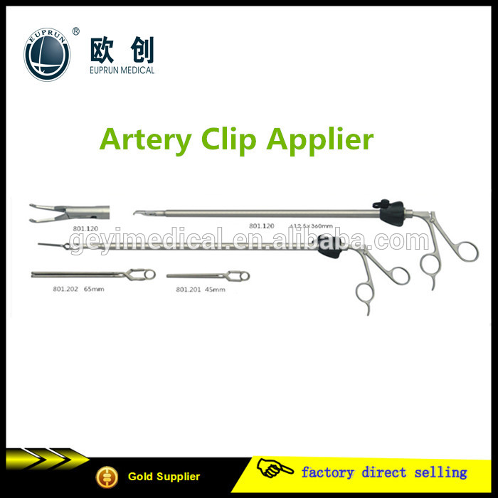 Medical laparoscopic trainer instrument Reusable Artery Vein Clip