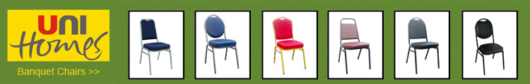 Fabric Padded Metal Stackable Banquet Chair
