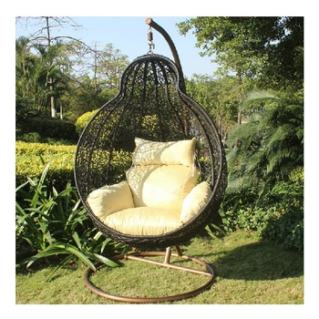 Relax Pe Rattan Birdcage Hanging Chair Cocoon Chair For Outdoor