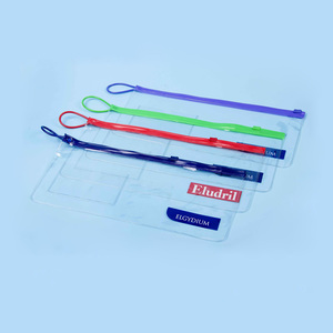 dent toothbrushes clear pvc color ziplock plastic package bag with handle