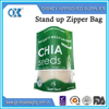 Plastic bag with handle zipper stand up bag with window reusable food pouch bpa free