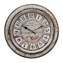 Shabby chic wooden wall clock home decor vintage wholesale B8230