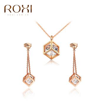 Roxi High Quality Rose Gold Plated Jewelry Sets Jewellery Dubai