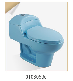 Ceramicbluse colour flush toilet