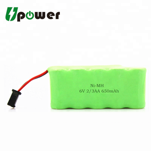 6V 2/3AA ni-mh cell battery 650mAh NI-MH Battery Pack with Wires and Connector