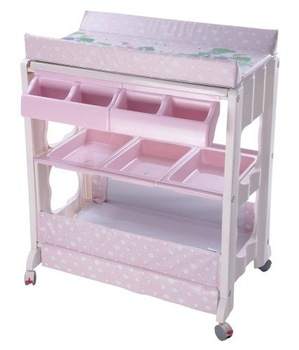 Bb070 baby changing table with bath tub wheels buy baby for Changing table for bathroom