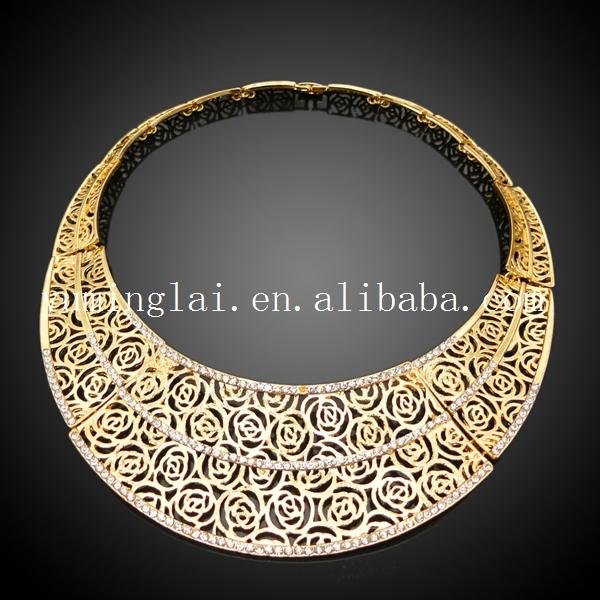Vogue Italian Gold Plated Jewelry SetsRani Haar Sets Designs In