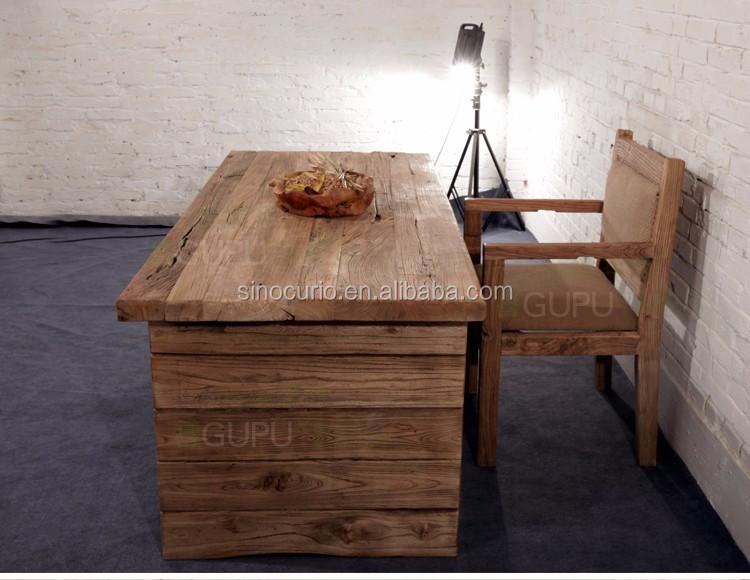 Tavoli Da Pranzo In Legno Riciclato : Mobili industriale di recupero antico tavolo da pranzo in legno
