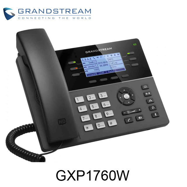 Low cost 6 lines, 3 SIP accounts mid-Range wireless sip IP phones GXP1760W