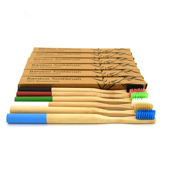 Eco friendly  Round bamboo toothbrush organic