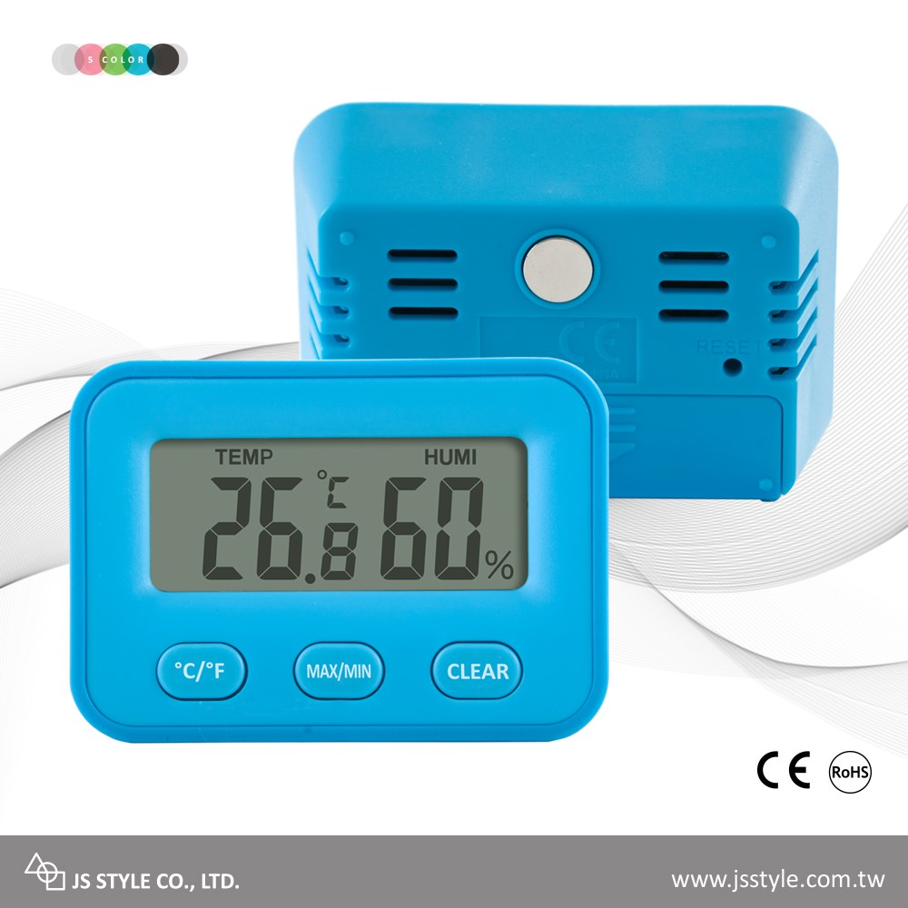 High Accuracy Electronic Multifunctional Max Min Temperature Humidity CE Hygrometer Thermometer With Magnetic Backing