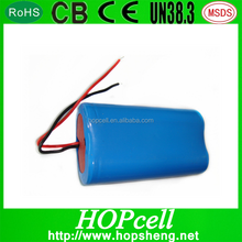 HOPcell Good quality 7.4v 1400mah 18500 li ion battery pack for Pos machine