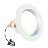 Hot item smart led downlight 4inch 9w 810lm 120C rgbsw dimmable bluetooth mesh control