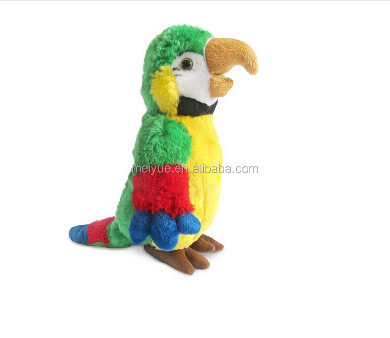 Stuffed Forest Animals Soft Toys Colorful Standing Parrot