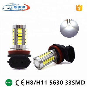 Car Led Head Lights H8 H11 9005 9006 Socket 5630 Chip 33 SMD White Source DC 12V Auto Headlight Bulbs Fog Lamp With Lens