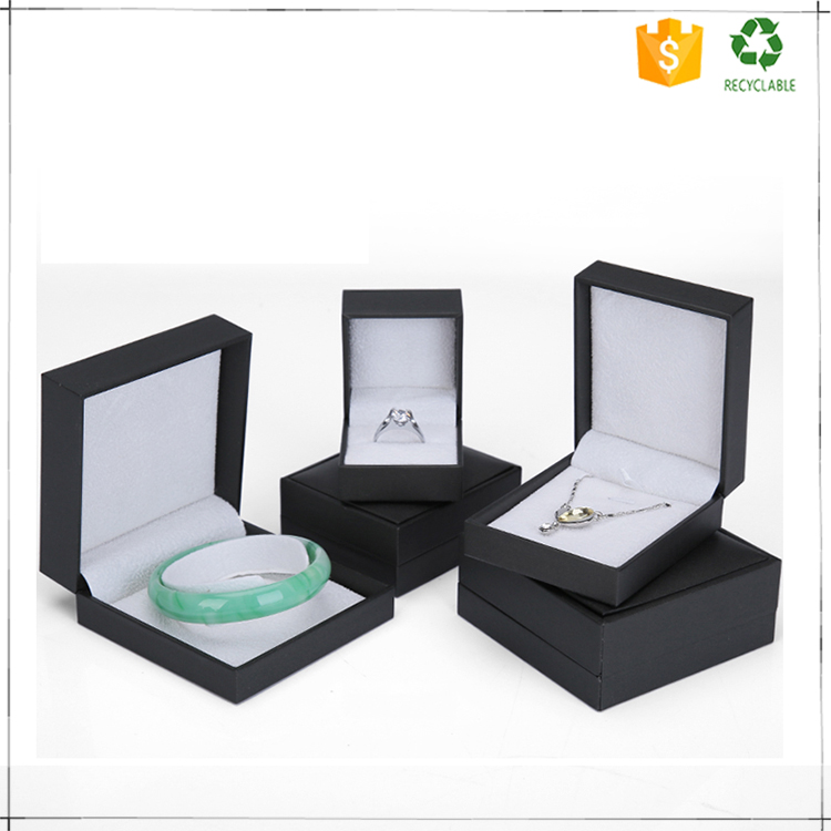Trade assurance wholesale black jewelry gift box for ring braclet pendant