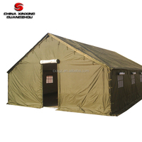 High quality Steel Outdoor Winter Army Green Canvas Tent Military Camping Tent