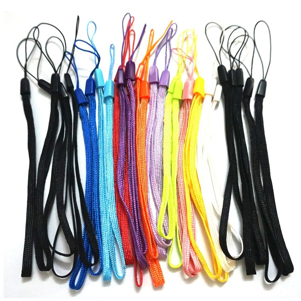 GTONEE 30PCS Bundle Colorful 7 Inch Durable Nylon Hand Wrist Strap Lanyard Straps / Strings Pack Rope for Hooking up Cellphone, Camera, iPod, Mp3, Mp4, USB Flash Drives,PSP Wii ,Pedometer, Keychains and Most Electronic Devices Red, Orange, Green, Purple, Dark Blue, Light Blue, White, Pink, Dark