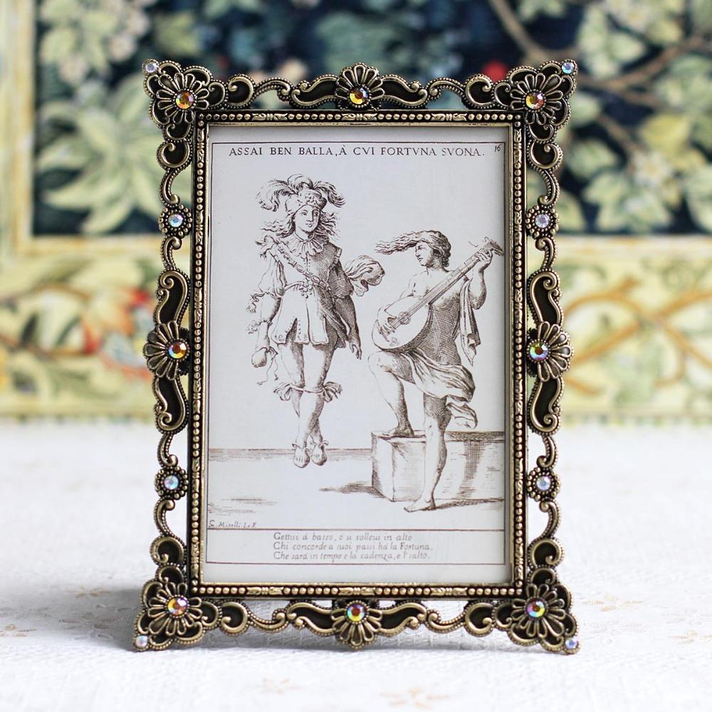Cheap Decorative Frames: Hot Selling Popular Home Decorative Antique Rectangle