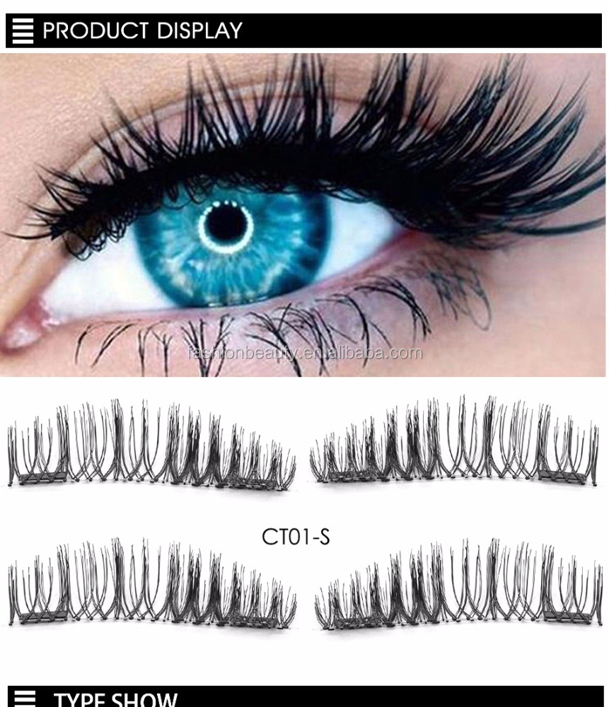 Magnet False Eyelashes Magnetic Lashes Fake Double Eyelashes