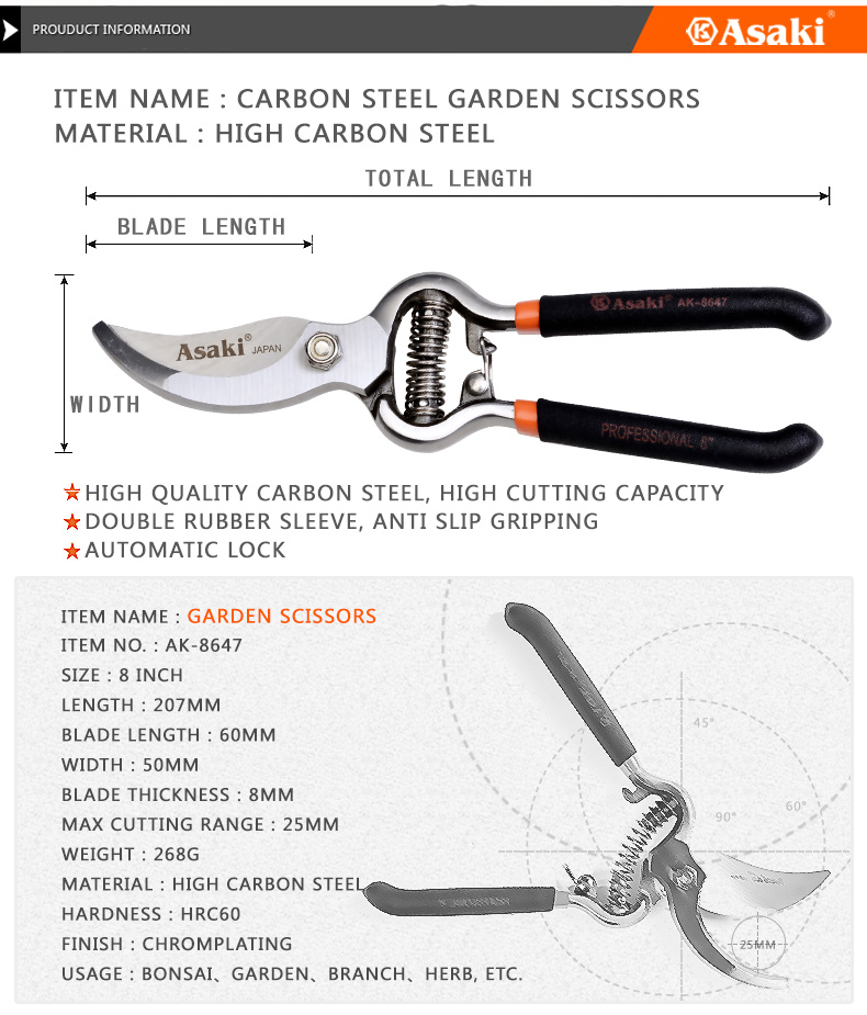 Stainless Garden scissors