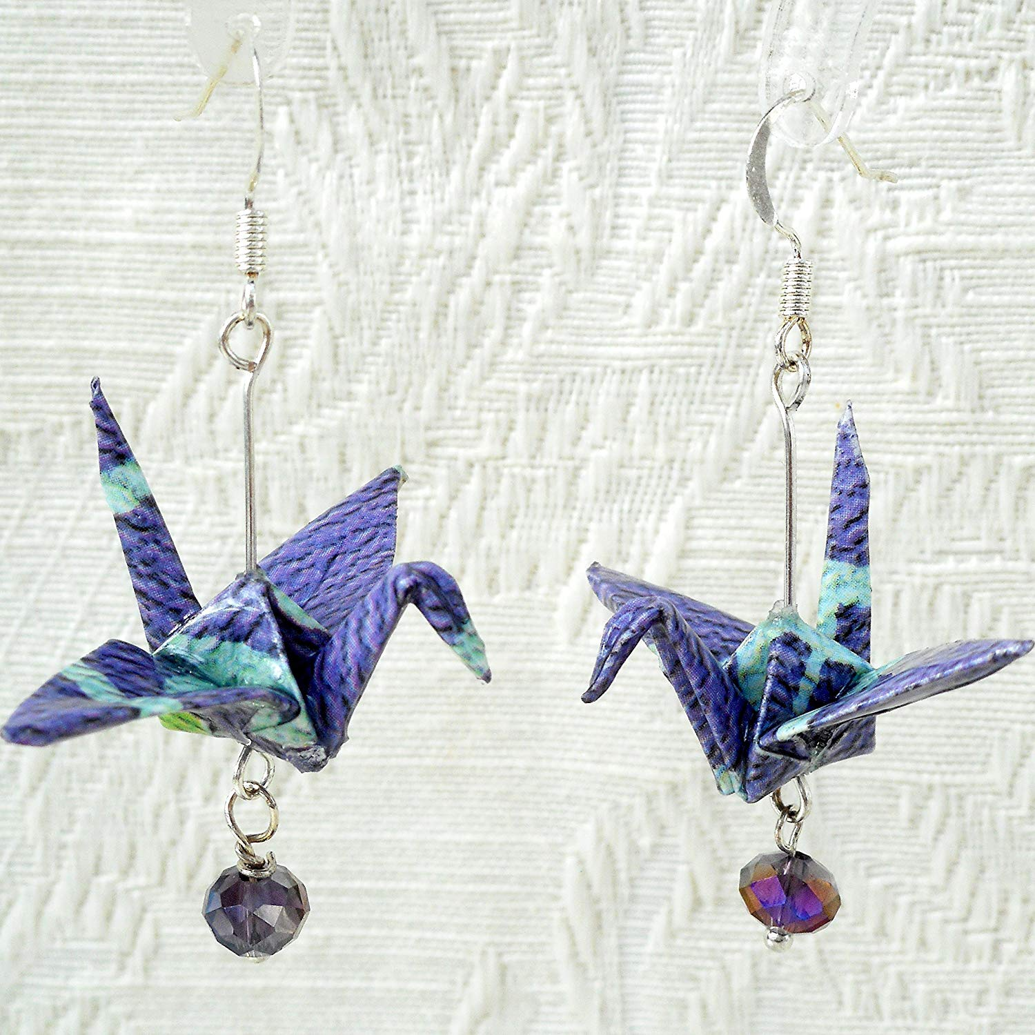 Tiny Black Origami Crane Outline Post Earrings - Joji Boutique | 1500x1500