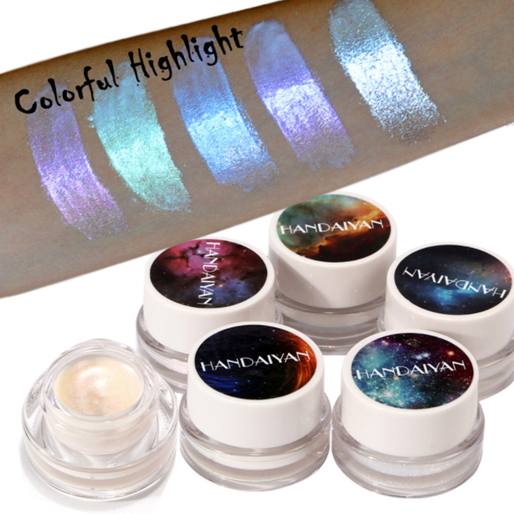2019 Wholesale 5 colors High Pigmented Highlighter Makeup Make Your Own Brand Eyeshadow, Multicolor